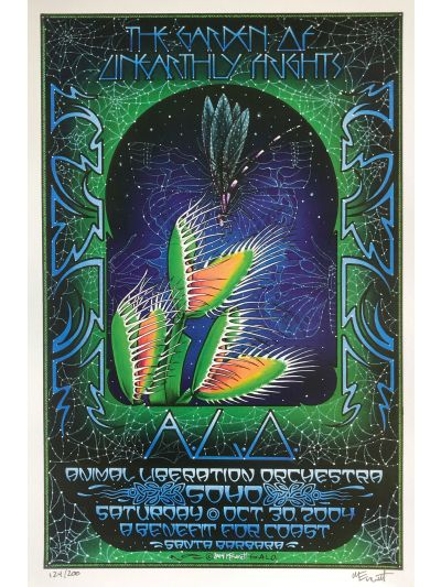 "Michael Everett ""The Garden of Unearthly Frights"" - SOHO, Santa Barbara, CA 10/30/04 Poster - Signed/Numbered by Artist"