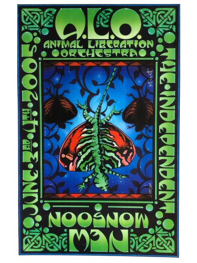 "Michael Everett ""ALO/New Monsoon Co-Bill"" - The Independent, San Francisco, CA 6/3-4/05 Poster - Signed/Numbered by Artist"