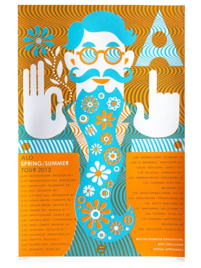 "Michael Wertz ""Spring/Summer 2012 Tour"" Poster - Signed/Numbered by Artist"