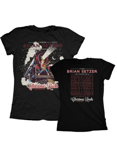 Brian Setzer Orchestra - Christmas Rocks 2014 Juniors Tour T-Shirt