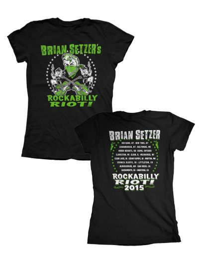 Brian Setzer - Rockabilly Riot 2015 Tour Juniors T-Shirt