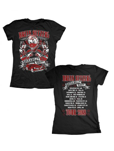 Brian Setzer - Ladies 2018 Rockabilly Riot Tour T-Shirt