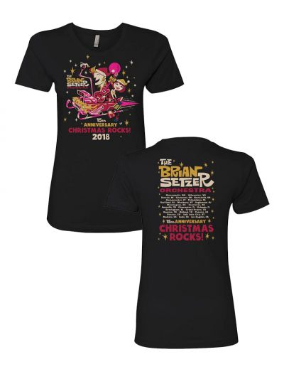 Brian Setzer - Ladies 15th Anniversary 2018 Christmas T-Shirt