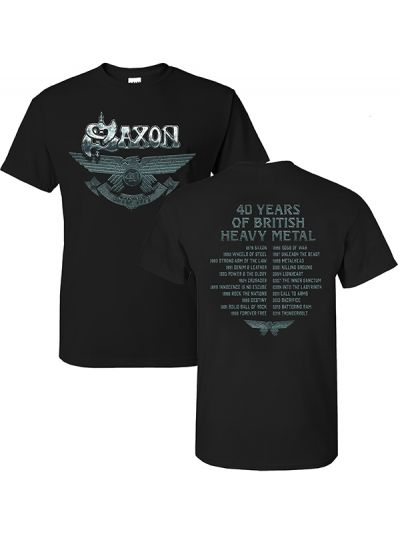 Saxon - 40th Anniversary T-Shirt