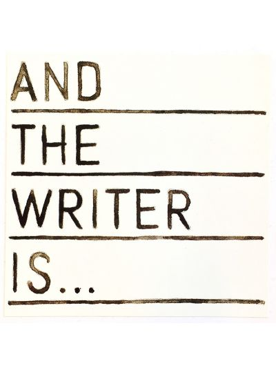 And The Writer Is... Sticker