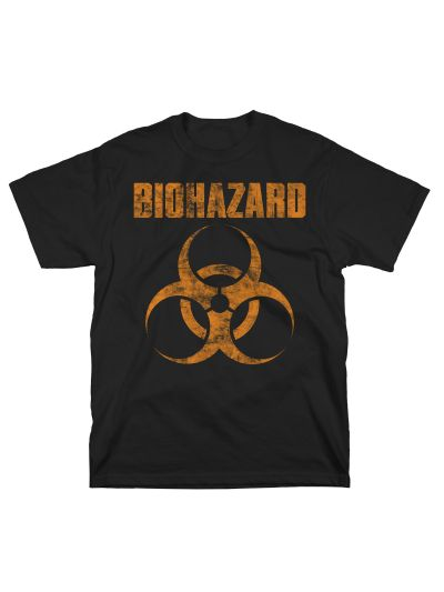 Biohazard - Distressed Logo T-Shirt - Black