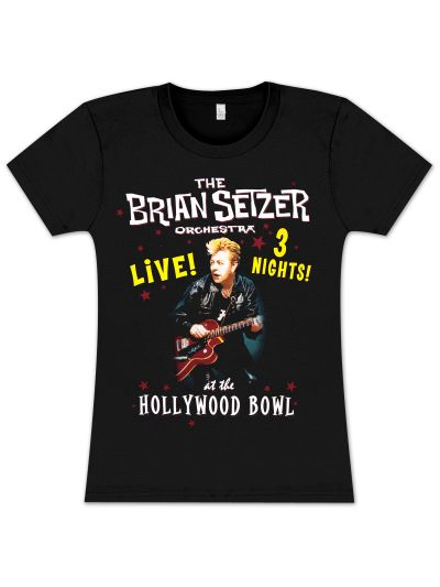 Brian Setzer Orchestra - Hollywood Bowl Ladies' T-Shirt