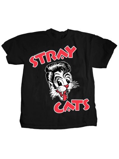 Stray Cats - Cat Head Logo T-Shirt