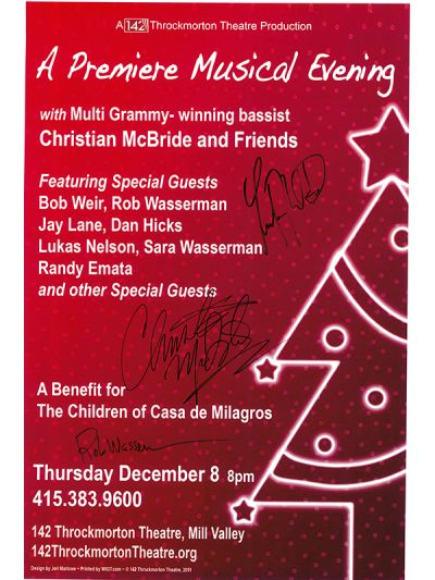 LIMITED EDITION Autographed Benefit for The Children of Casa de Milagros Benefit Poster