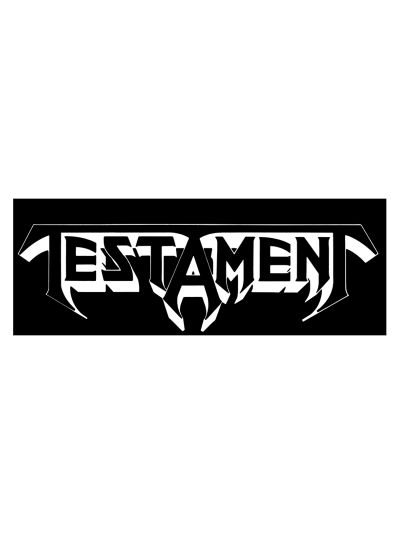"Testament - Logo Bumper Sticker 3"" x 8.5"""