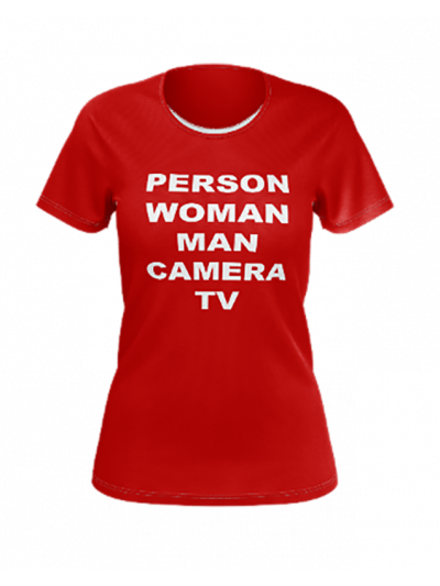Cognitive Test Ladies Short Sleeve Tee - Red