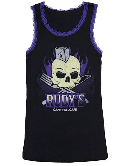 Rudy's Cafe - Skull Lace Girly Tank Top