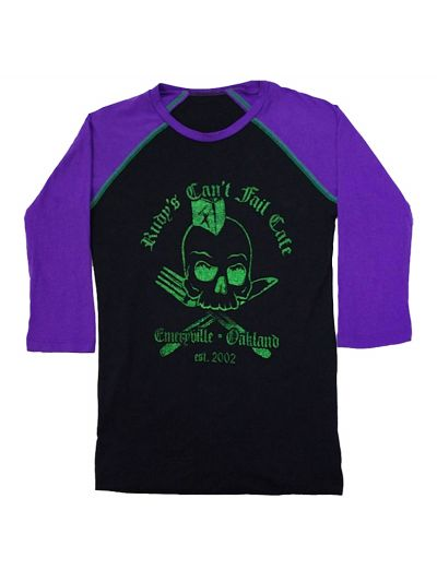 Rudy's Cafe - Skull Ladies' Baseball Jersey