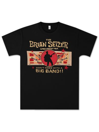 Brian Setzer - Don't Mess With A Big Band Ladies' T-Shirt