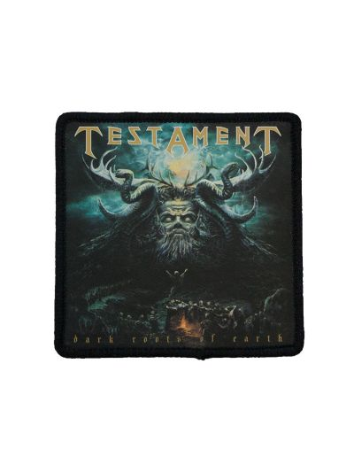"Testament- Dark Roots of the Earth 3""x3"" Polyester Iron On Patch"