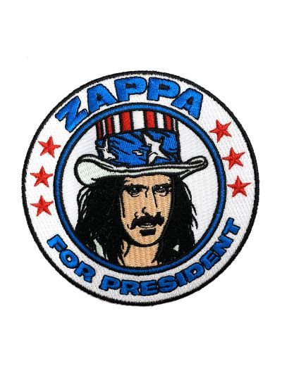 Embroidered Zappa for President Patch