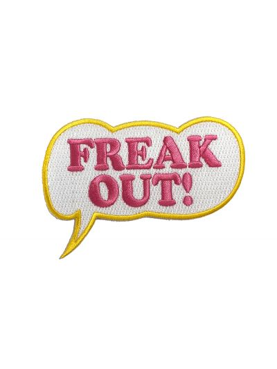 Embroidered Freak Out! Patch