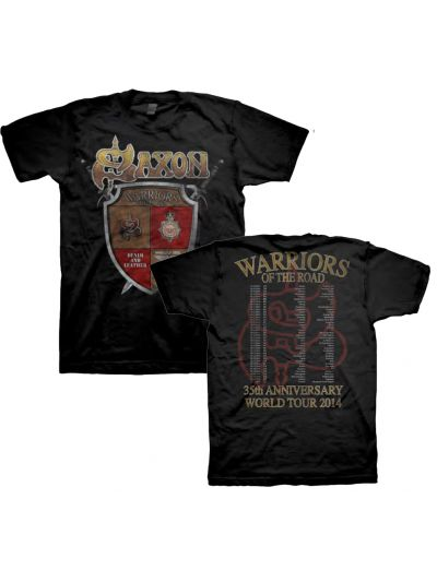 Saxon - Shield 35th Anniversary World Tour 2014 T-Shirt
