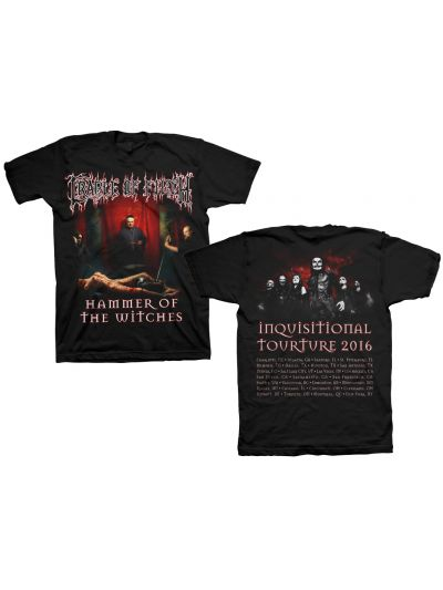 Cradle of Filth - Hammer of the Witches 2016 Tour T-Shirt