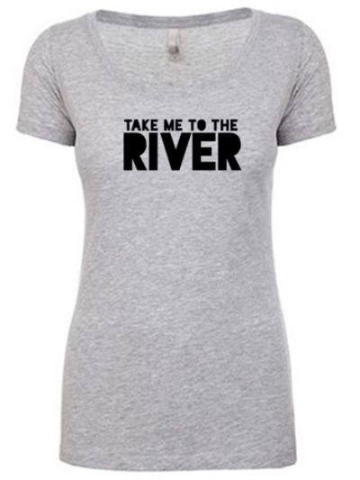 Take Me To The River Logo Ladies T-Shirt - Heather Grey