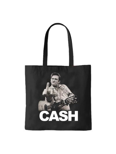 "Jim Marshall - Johnny Cash ""The Finger"" Tote Bag"