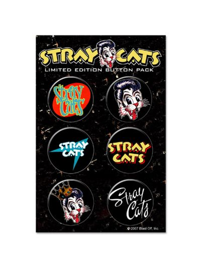 Stray Cats - Button Pack