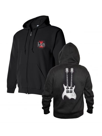 Lita Ford - Double Neck Guitar Hoodie