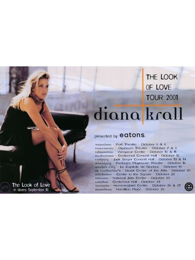 """Diana Krall- Look of Love 2001 Tour Poster 28"""" x 22"""""""