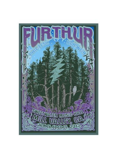 Sweetwater - Furthur at Sweetwater 1/16-1/19 2013 Numbered Poster