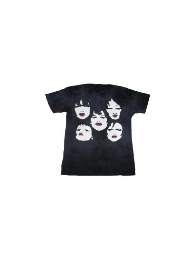 New York Dolls - Faces Distressed Tea Stained T-Shirt