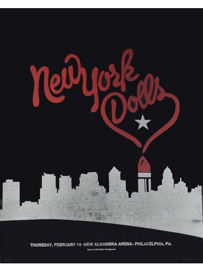 New York Dolls Live Screen Printed Poster - Alhambra Arena, PA
