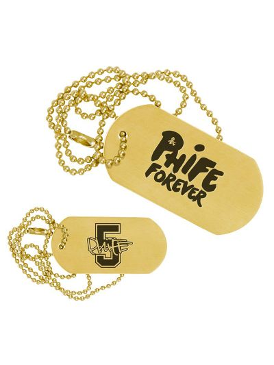 Phife Dawg Forever Gold Dog Tag