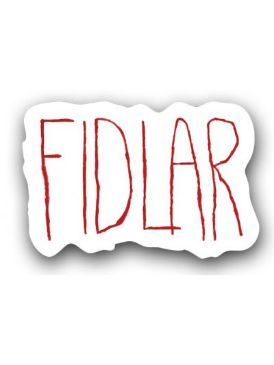 FIDLAR - Red Logo Sticker