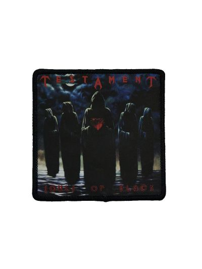 "Testament- Soul of Black 3""x3"" Polyester Iron on Patch"