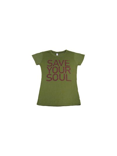 She Wants Revenge-Save Your Soul - Green Fine Jersey Girls Shirt