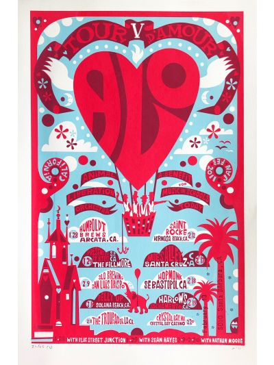 Michael Wertz - Tour d'Amour V 2011 Poster - Signed/Numbered by Artist