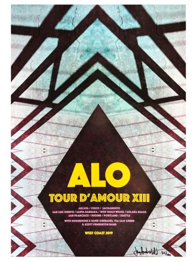 Jay Archibald - Tour d'Amour XIII 2019 Poster - Signed/Numbered by Artist