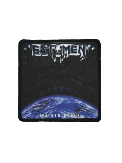 "Testament- New Order 3""x3"" Polyester Iron on Patch"