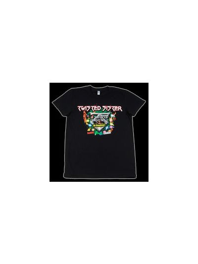 Twisted Sister - 2008 Twisted Christmas Tour Girls Cap Sleeve Shirt