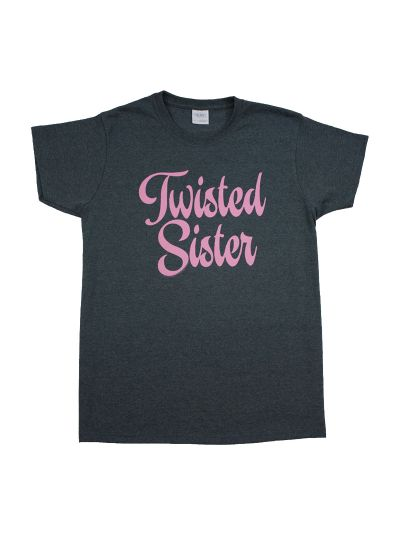 Twisted Sister - Script Twist Girly T-Shirt