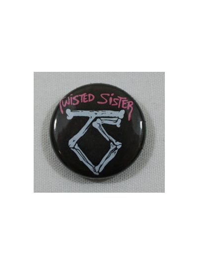 Twisted Sister Logo Button