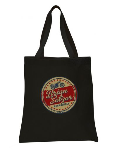 Brian Setzer - Vintage Sign Tote Bag - Black