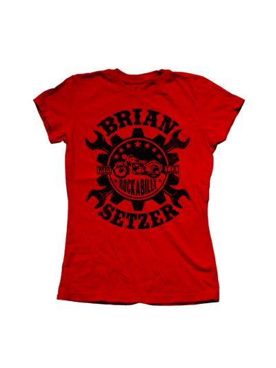 Brian Setzer Orchestra - Wrench Girl's T-Shirt