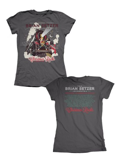 Brian Setzer Orchestra - Christmas Rocks 2013 Tour Girl's T-Shirt