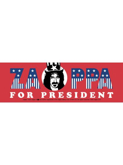 Zappa For President Bumper Sticker